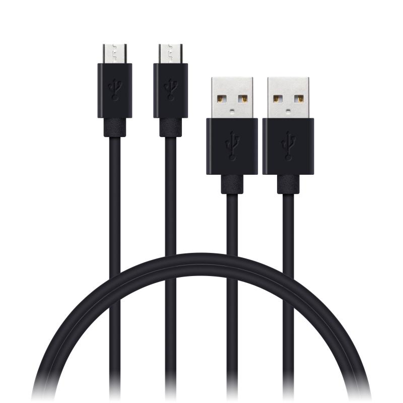 WIREZ USB-A -> Micro-USB, negro